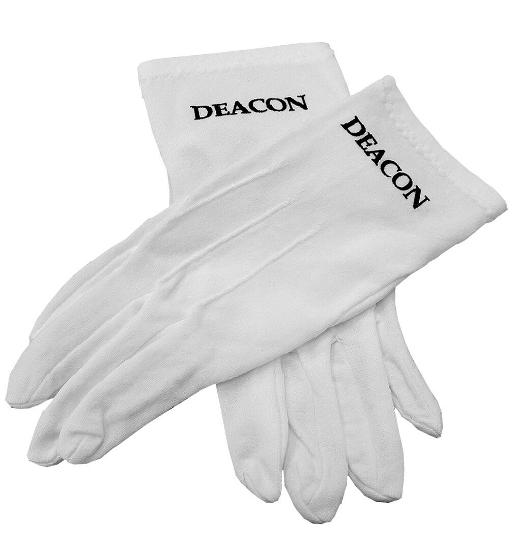 Black usher gloves - High Performance 100 Cotton Formal Glove With Printed Logo At Great Low Price